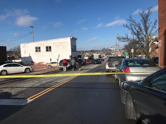 Mansfield police responded to a report of a person being shot News Year's Day at 1:08 p.m. outside the former Walnut Lounge building at  111 N. Walnut St.