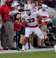 Jonathan Taylor amassed6,174 rushing yards and 50 touchdowns in his three seasons at Wisconsin.