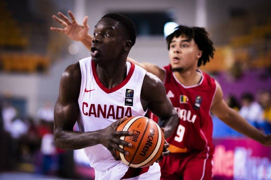 Karim Mane played for Team Canada in the U19 FIBA World Cup.