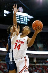 Forward Kaleb Wesson scored 28 points in Ohio State's first Big Ten home game of the season, vs. Penn State, in December.