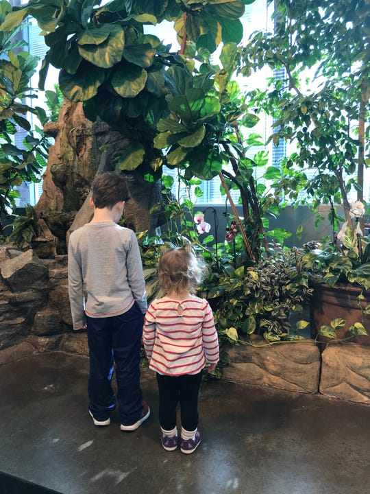 Callan and Mara McCully visit the Milwaukee Public Museum during Milwaukee Museum Week 2018.