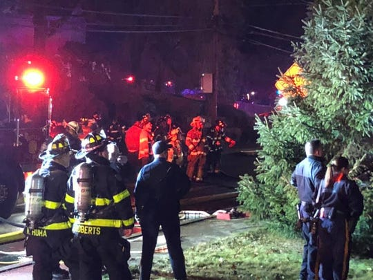 Photos from the scene of a fatal New Year's Eve house fire on Myrtle Avenue in Butler. The couple who lived there perished, a neighbor said.