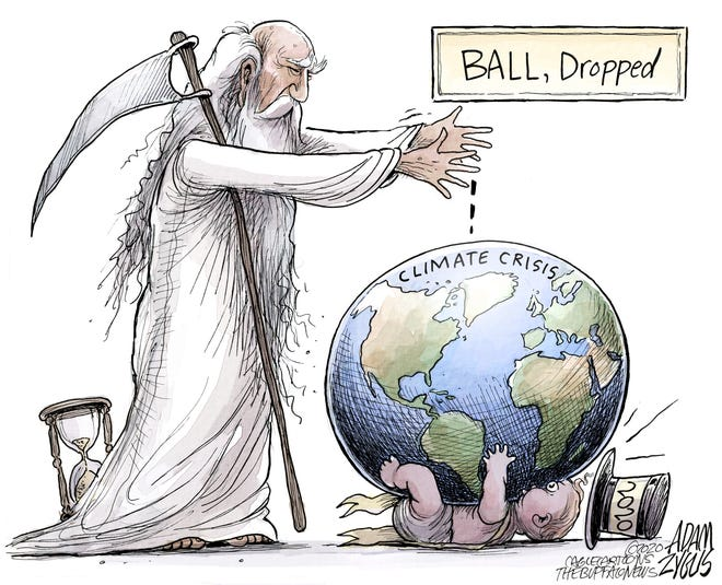 Climate crisis dropped on new year.