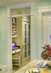 This nook of office space is located off the kitchen in this Thyme and Place room design by Sharon L. Sherman.