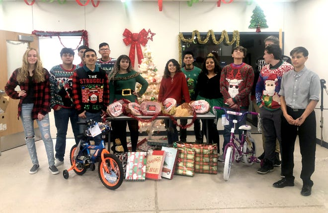 The Deming High School Army JROTC Wildcat Battalion cadets collected hams and toys that were donated to the Deming and Luna County community during the holiday as part of the program's commitment to community service. Under the command of Lt. Col. Todd Moultrie and Sgt. 1st Class Chris Ray, the Wildcat Battalion cadets have been active in the community with numerous projects to improve the quality of life in Deming and Luna County.