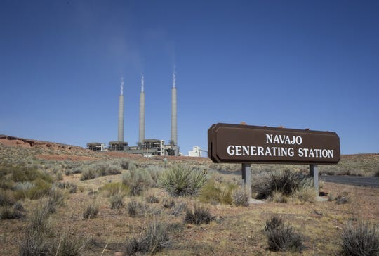 The Navajo Generating Station is pictured on Aug. 20, 2019 near Page, Arizona.