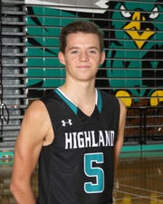 AJ Riggs of Highland boys basketball