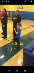 Jonestown Elementary School student Grace Signor first began singing the national anthem at Northern Lebanon girls basketball games three years ago, when she was in first grade.