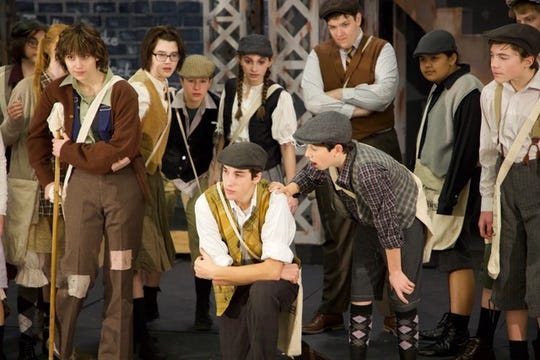 """""""Newsies"""":SKIT Theatre's energetic teens tackle the Broadway smash musical, as a ragtag team of newsboys make a meager living selling newspapers on the New York City streets in 1899, 7 p.m. Jan. 9 (public dress rehearsal) and Jan. 10, 11, 17 and 18; 2 p.m. Jan. 18,Salem First Free Methodist Church, 4455 Silverton Road NE. Children 12 and under $6, students age 13-18 and seniors 55 and above $8, adults $10.503-689-7588 orskittheatre.com/act-ii-on-stage."""