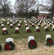For the first time, all 13,000 graves at the Springfield National Cemetery, at Seminole Street and Glenstone Avenue, and all 6,000 graves at the Missouri Veterans Cemetery, at 5201 S. Southwood Road, in Springfield, have a holiday wreath thanks to a nonprofit called the Itus Virtus Motorcycle Club.