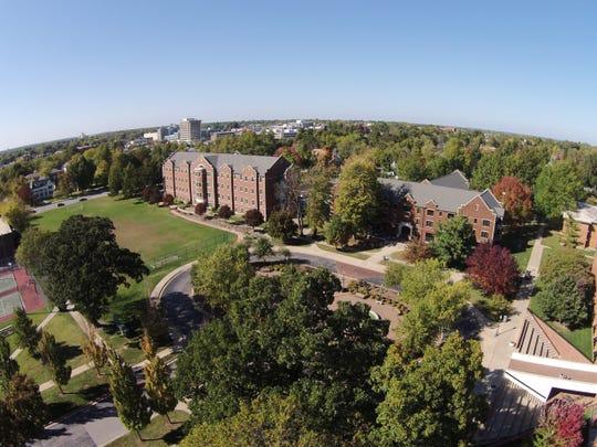 An aerial look at Drury University
