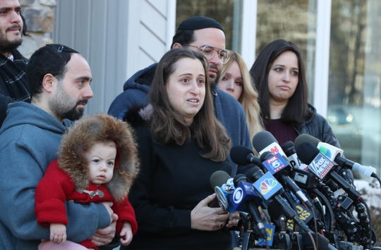 Nicky Kohen, daughter of Monsey stabbing victim Josef Neumann, speaks about the condition of her father at her New City home Jan. 2, 2020.
