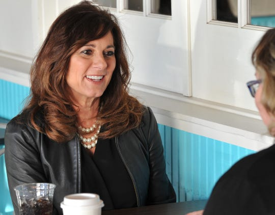 Congressional candidate Elaine Hays discusses her views during a visit to Wichita Falls on Thursday, Jan. 2, 2020.