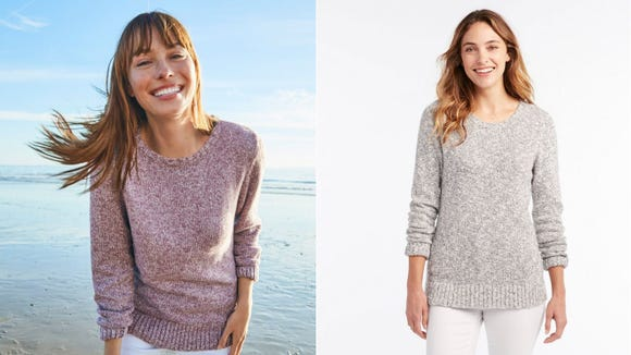 This sweater is light enough to wear on a summer's day.