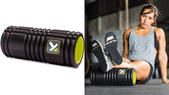 This foam roller is super helpful for runners, and right now it's on sale too.