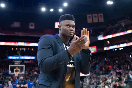 No. 1 overall NBA draft pick Zion Williamson hasn't played a game for the Pelicans yet this season.