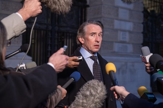 "Steve Coogan stars as a self-made British billionaire who throws an extravagant 60th birthday party for himself to save his fashion empire in the satire ""Greed."""