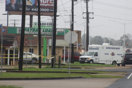 Law enforcement was called to the Cash Cow loan business on the morning of Jan. 2, 2020, after police say a man set off an explosion in an attempt to rob the Alexandria business.