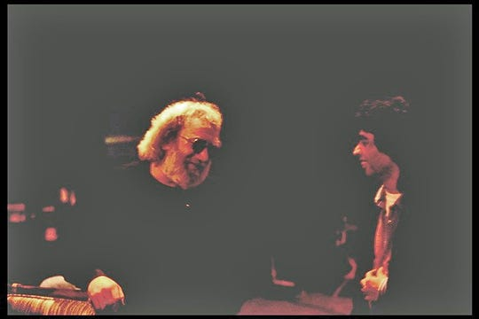 """""""Clouds"""" by Jerry Garcia, left, and Sanja Mishra is included on """"Annapurna's Song: Music of the Himalayas"""" to support the American Himalayan Foundation."""