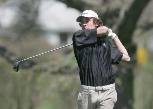 Rumson's Charlie Edler tees off at the 2011 Monmouth County Tournament.