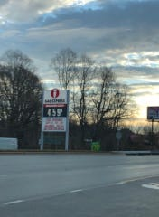 A glitch made the Ingles Gas Express sign on Leicester Highway have an incorrect price on Friday, Jan. 3, 2020.