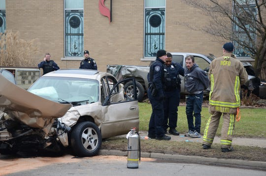 A driver was arrested after a crash Friday on Bedford Road.