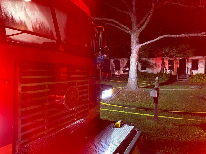 Brevard County firefighters put out a house fire in a unoccupied Sharpes home on Kipling Drive early Friday where they found and stopped a propane leak but have not yet determined the fire's cause, officials said.