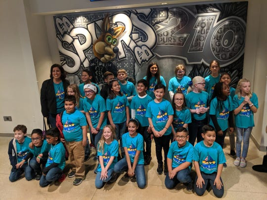 Mireles Elementary choir students sang before a San Antonio Spurs game at the AT&T Center on Thursday, Jan. 2, 2020.