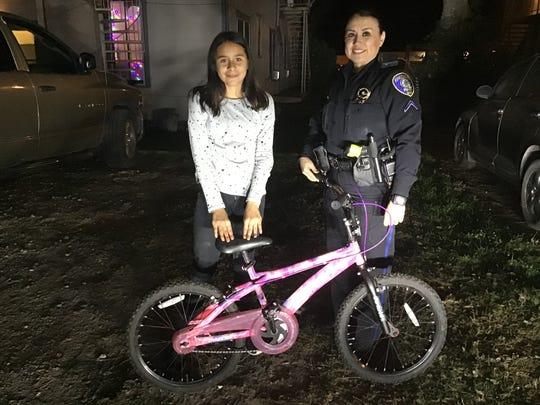 After a girl's bicycle was stolen only five days after Christmas, Kingsville police officers set out to get it back.