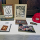 Family members of Bill and Nancy Schafrath put together displays to commemorate the couple's lives, including Nancy's name plate from Wayne Savings Community Bank, where she was first vice president and a branch manager, and a hard hat from Bogner Construction, where Bill spent most of his career as a bricklayer.