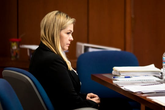 Kenton County Family Court Judge Dawn Gentry appears at her hearing at the Jefferson County Judicial Center in Louisville on Friday, January 3, 2020. The Kentucky Judicial Conduct Commission is investigating Gentry as she faces nine charges that accuse her of using sex, campaign contributions, and retaliation as tools in her judgeship.