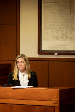 Kenton County Family Court Judge Dawn Gentry testifies at her hearing at the Jefferson County Judicial Center in Louisville on Friday, January 3, 2020.The Kentucky Judicial Conduct Commission is investigatingGentry as she faces nine charges that accuse her of using sex, campaign contributions, and retaliation as tools in her judgeship.