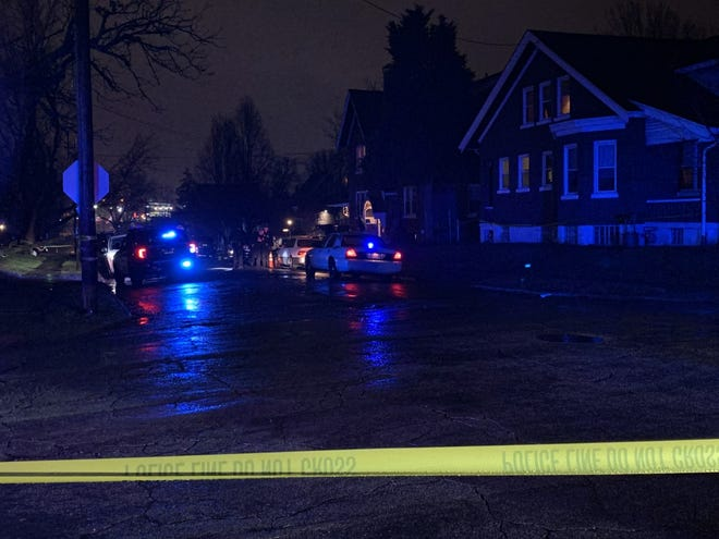 Reports of shots fired on Hudson Avenue came in at around 6:45 p.m. Thursday.