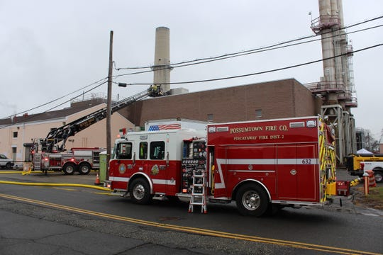 Piscataway volunteer firefighters responded to a roof fire  at a building on the Rutgers Busch campus.