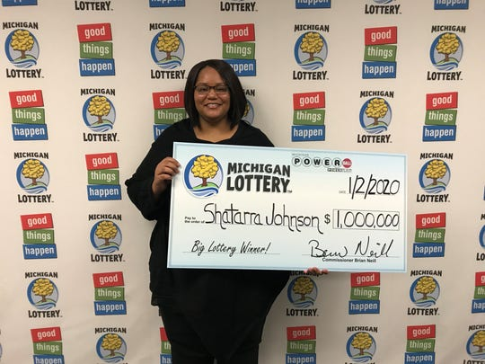 Shartarra Johnson won a $1-million Powerball prize on Christmas.