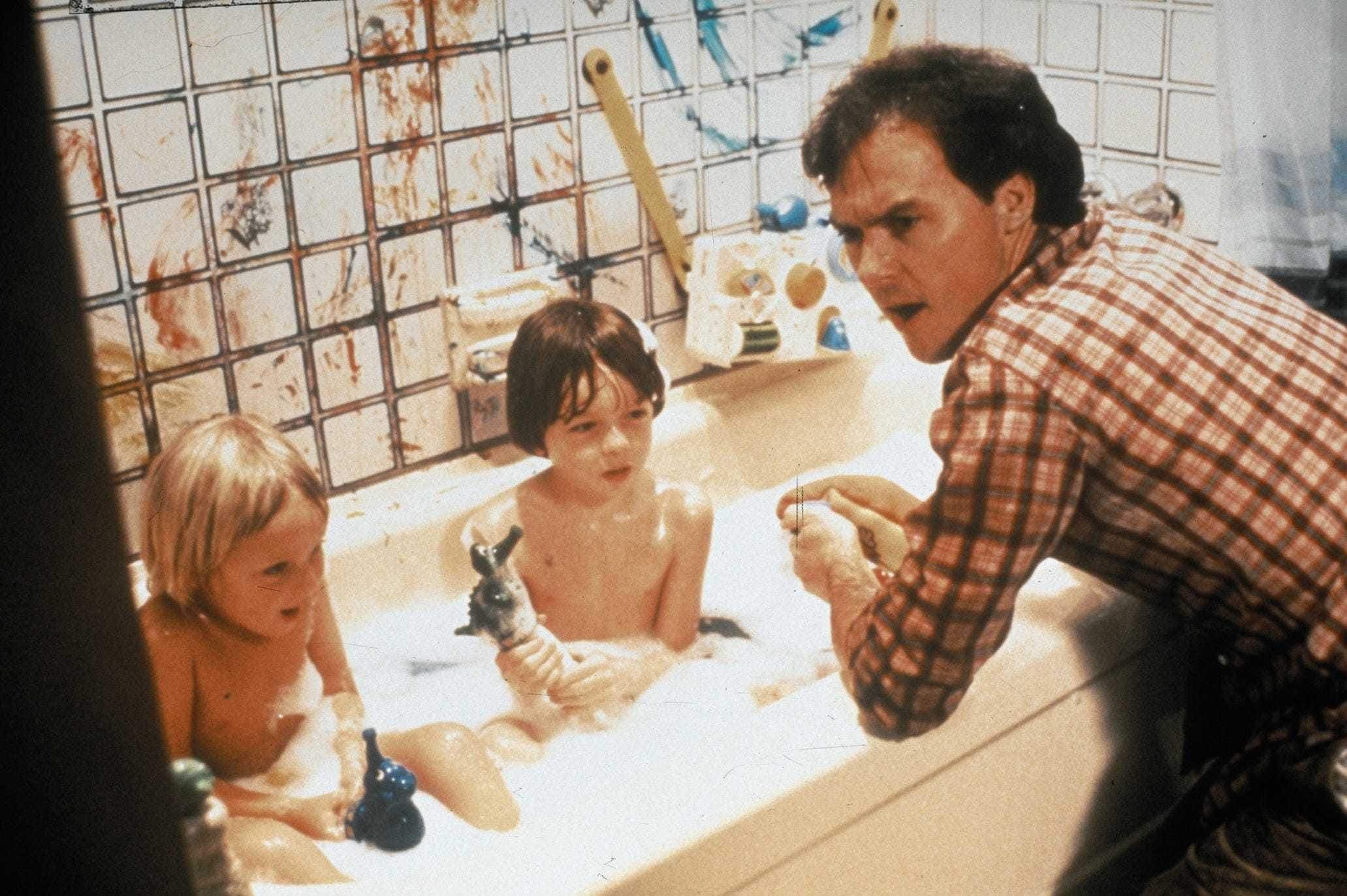 """""""Mr. Mom,"""" released in 1983, starred Michael Keaton as a metro Detroit engineer who is laid off and takes over the duties of caring for his three children while his wife returns to work."""