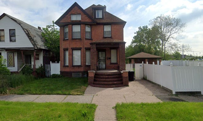 A home at 611 S. Green St. in Detroit in May 2019 before it burned on New Year's Eve.