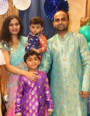Phanideep Karnati (on right) with his wife, Ramya Karnati, and their two children. Karnati was a recruiter for the fake University of Farmington in Farmington Hills, Michigan.  He pled guilty in 2019 to visa fraud. The university was fake and set up by ICE as part of a sting operation that Karnati was not aware of. He maintains he thought it had online classes and was a legitimate university.