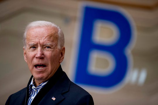 Democratic presidential candidate Joe Biden speaks about the American drone strike on Quds Force commander Qasem Soleimani during a campaign rally at the University of Dubuque, Friday, Jan. 3, 2020, in Dubuque, Iowa.