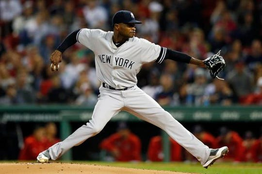 Yankees right-hander Domingo German was the team's winningest pitcher last season before he was placed on leave.
