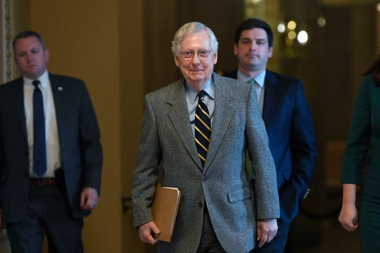 Senate Majority Leader Mitch McConnell said Tuesday that the chamber would begin trying Trump next week.