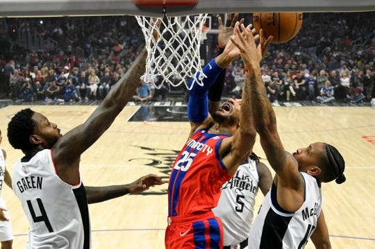 One of the Pistons' eight remaining home games is against the LA Clippers.