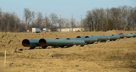 The NEXUS pipeline, seen here near U.S. 6 during construction in May 2018, spans 32 miles in Sandusky County. Local government entities and school districts hope to get substantial ad valorem tax revenues from the pipelines but are unsure how much they will actually get. NEXUS filed an appeal with the state to lower the amount of taxes it will pay from the pipeline.