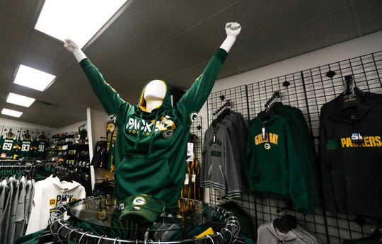 A mannequin raises his hands on Friday, Jan. 3, 2020, at Jersey Store in Ashwaubenon, Wis. Ebony Cox/USA TODAY NETWORK-Wisconsin