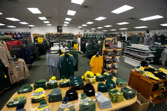 Scenes of Packers gear displayed in preparation for the home playoff game Friday, Jan. 3, 2020, at Jersey Store in Green Bay, Wis. Ebony Cox/USA TODAY NETWORK-Wisconsin