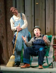 """Jeff Herbst and Doug Mancheski is a scene from the 2012 production of """"Belgians in Heaven,"""" which returns to the Northern Sky Theater schedule in 2020."""
