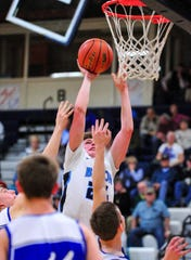 Great Falls High's Drew Wyman attempts a shot in Thursday's basketball game against Havre.