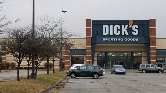 A Dick's Sporting Goods store at Washington Square Mall on Indianapolis' east side shown on Jan. 3, 2020. The store was set to close on Jan. 5, property manager Keith Lee said.