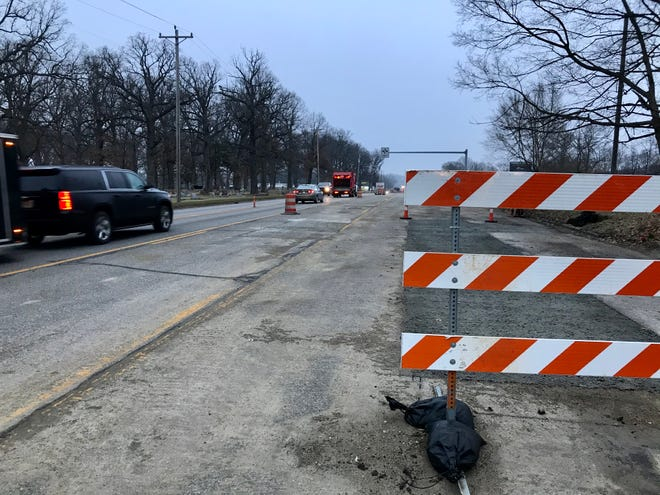 Work continues into the new year along Schuyler Avenue, where lane restrictions are in place between Sagamore Parkway and County Road 200 North for a city water and sewer line project.