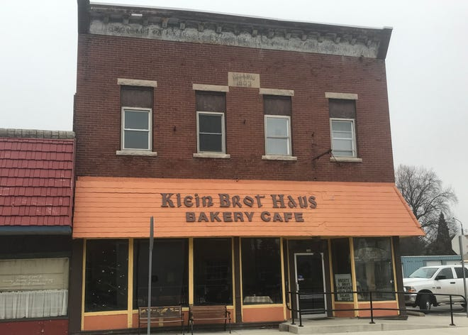 The exterior of Klein Brot Haus Bakery in Brookston. West Lafayette's Two Guys Catering and Bakery purchased the building and plan to open their own bakery and restaurant inside.